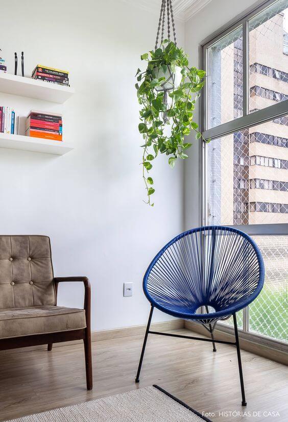 Cadeira acapulco azul
