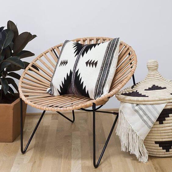 Cadeira acapulco plaha com almofada moderna