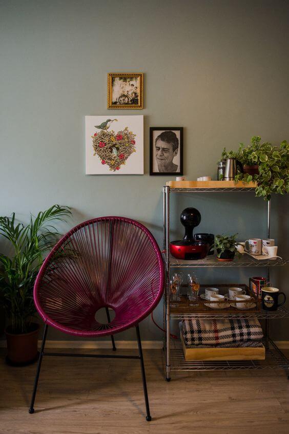 Cadeira acapulco marsala