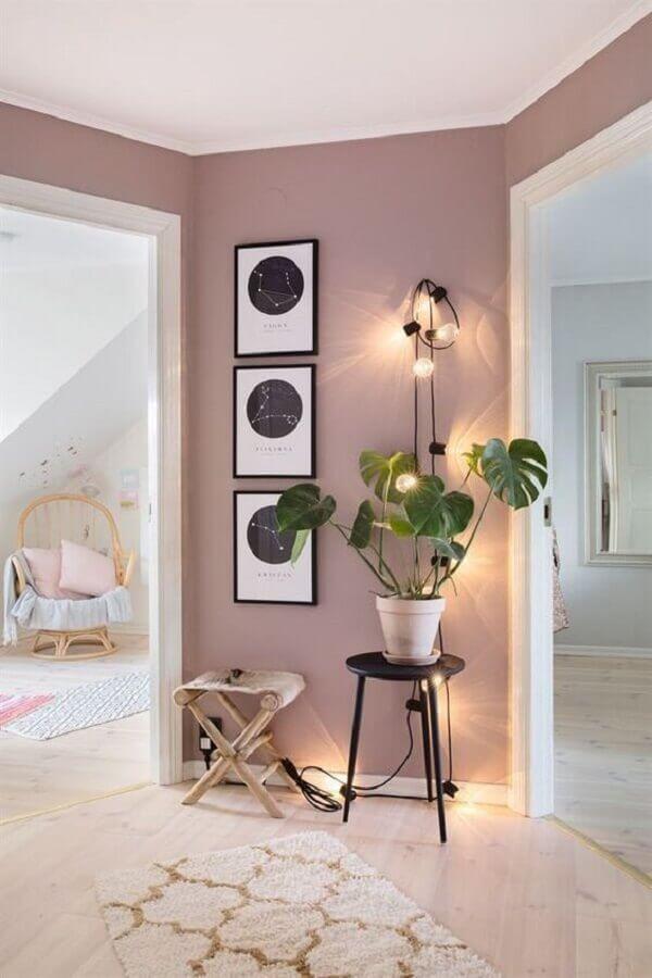 casa decorada com tinta rosa pastel Foto Pinterest