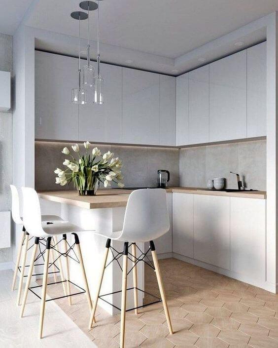 Cozinha americana para casa moderna