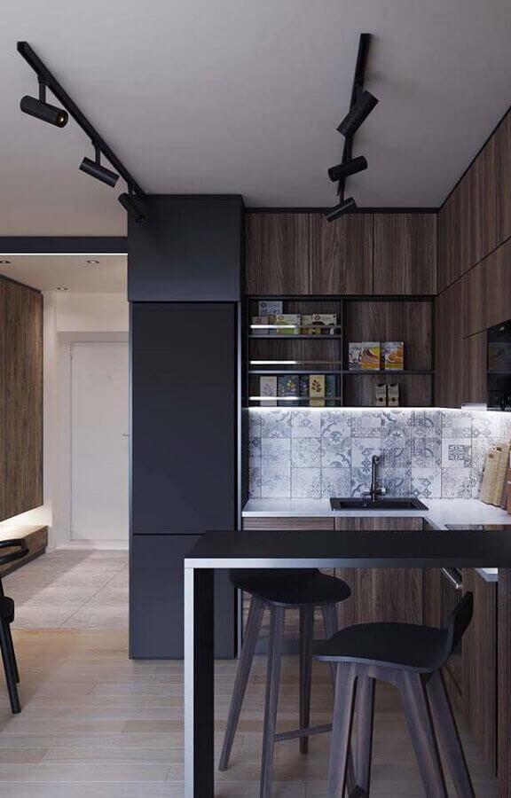 cozinha em U pequena Foto Otimizi