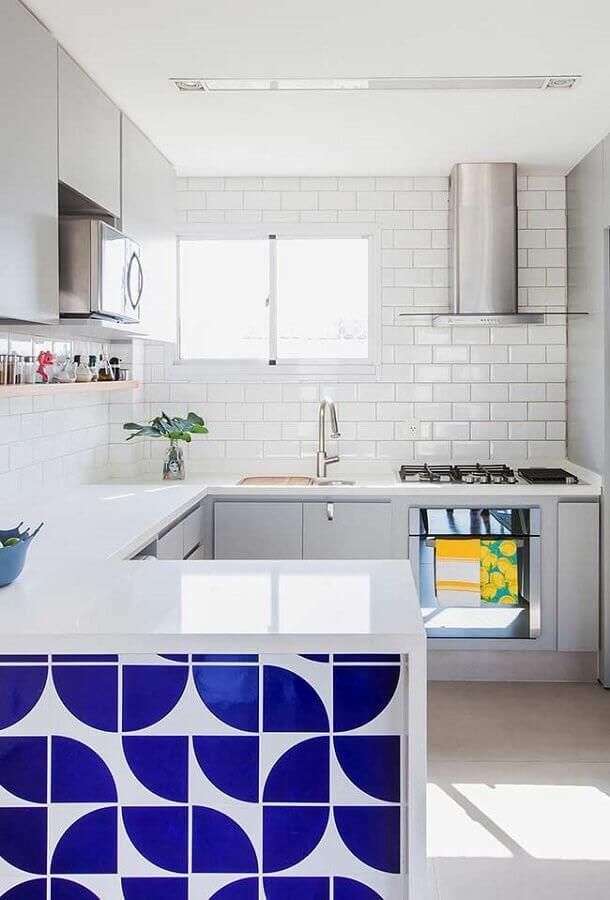cozinha planejada em U simples Foto Pinterest