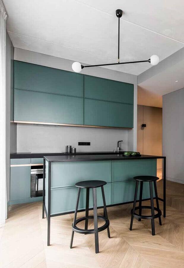cozinha planejada verde moderna Foto Archilovers