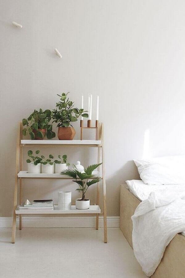 decoração com plantas para quarto minimalista Foto Pinterest