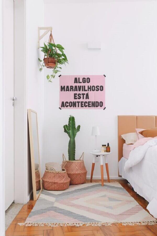 decoração de quarto com plantas Foto Paulo Biacchi