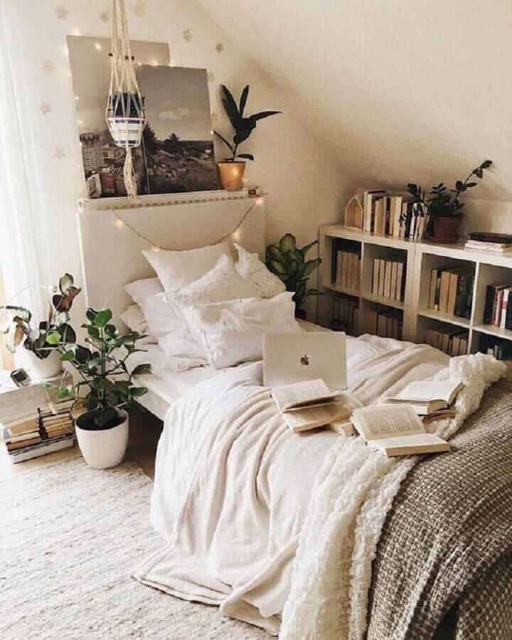 decoração de quarto com plantas em vasos Foto Pinterest