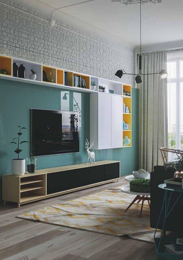 decoração de sala verde água moderna Foto Apartment Therapy