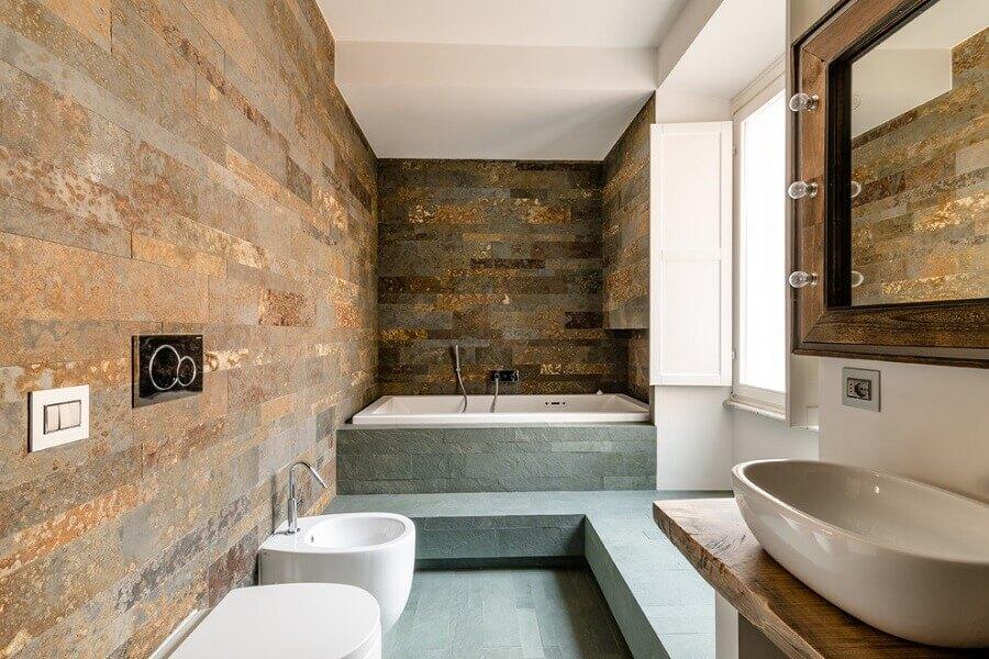decoração para banheiro rústico moderno Foto We Heart It