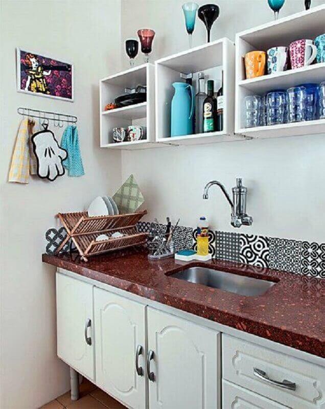 decoração simples com faixa para parede de cozinha Foto Simples Decoração