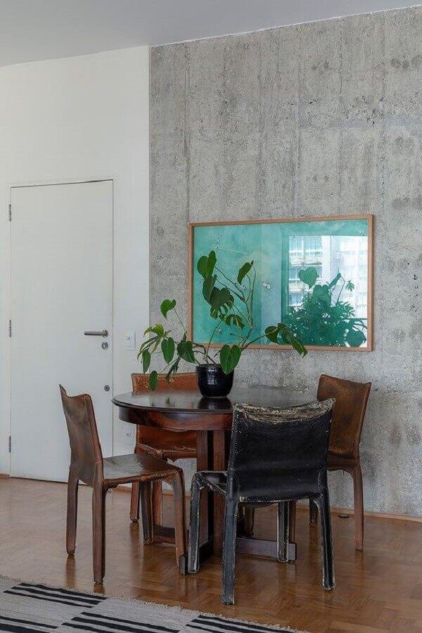 decoração simples vaso para mesa de jantar rústica Foto Casa de Valentina