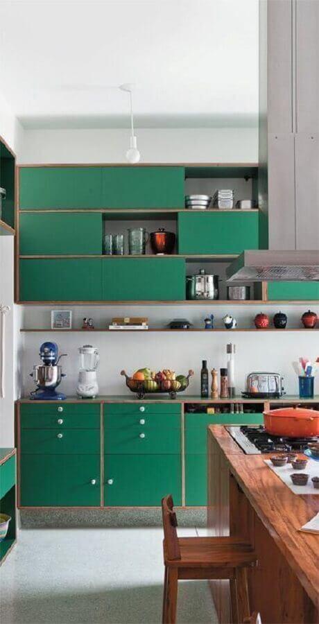 design retrô para armário de cozinha verde Foto CoachDecor