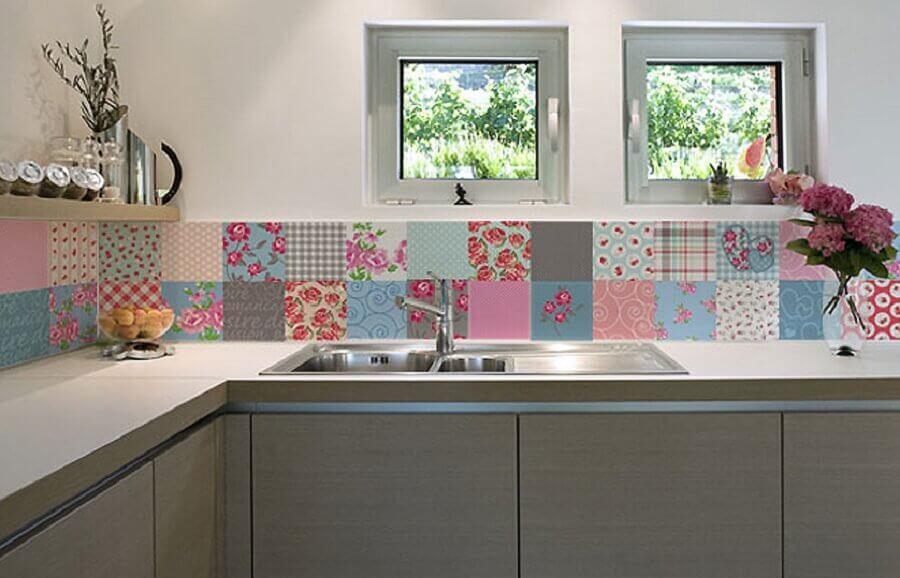 estampa retrô para faixa adesiva para cozinha Foto Reclicar e Decorar