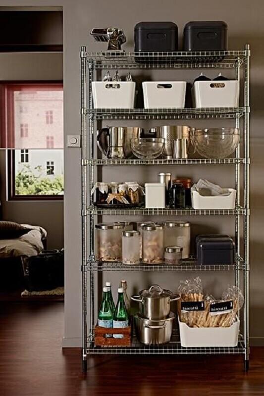 estante estilo industrial simples para cozinha Foto New Home Living