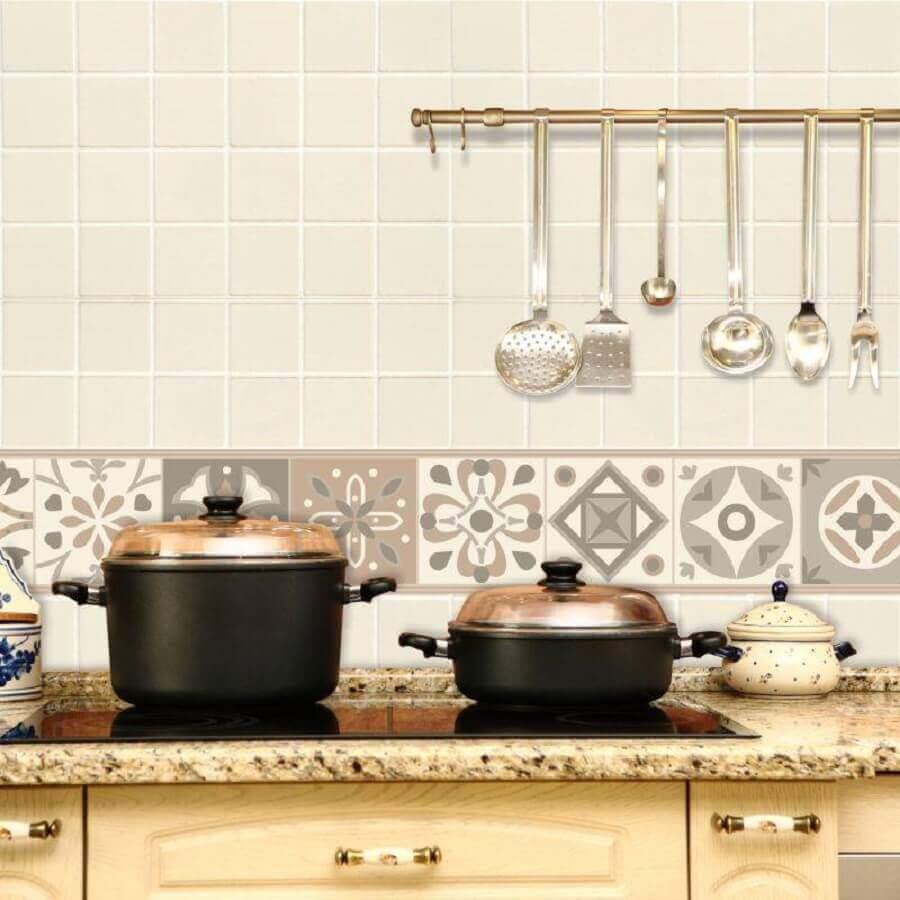 faixa adesiva para cozinha simples Foto Pinterest