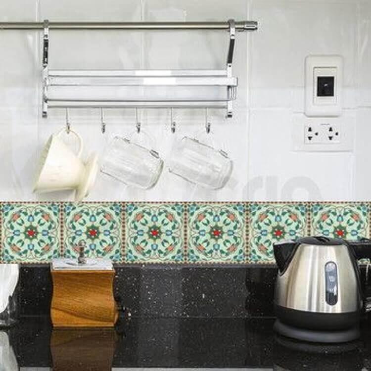 faixa de cerâmica para cozinha Foto Reciclar e Decorar