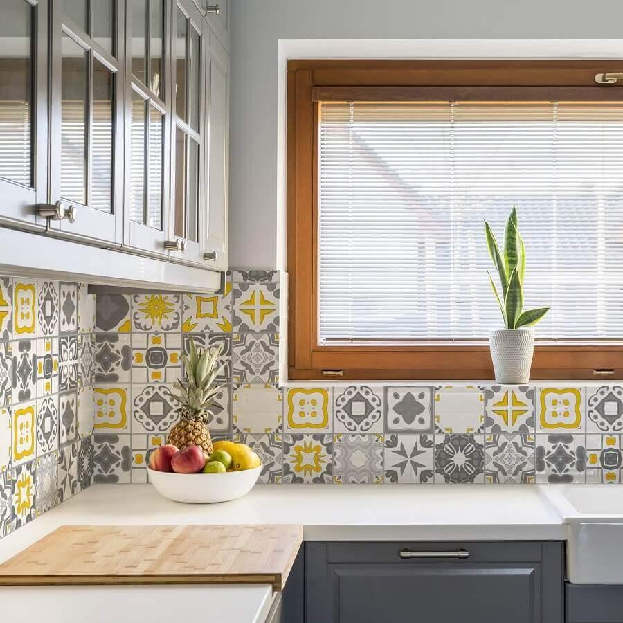 faixa decorativa para cozinha Foto Archzine
