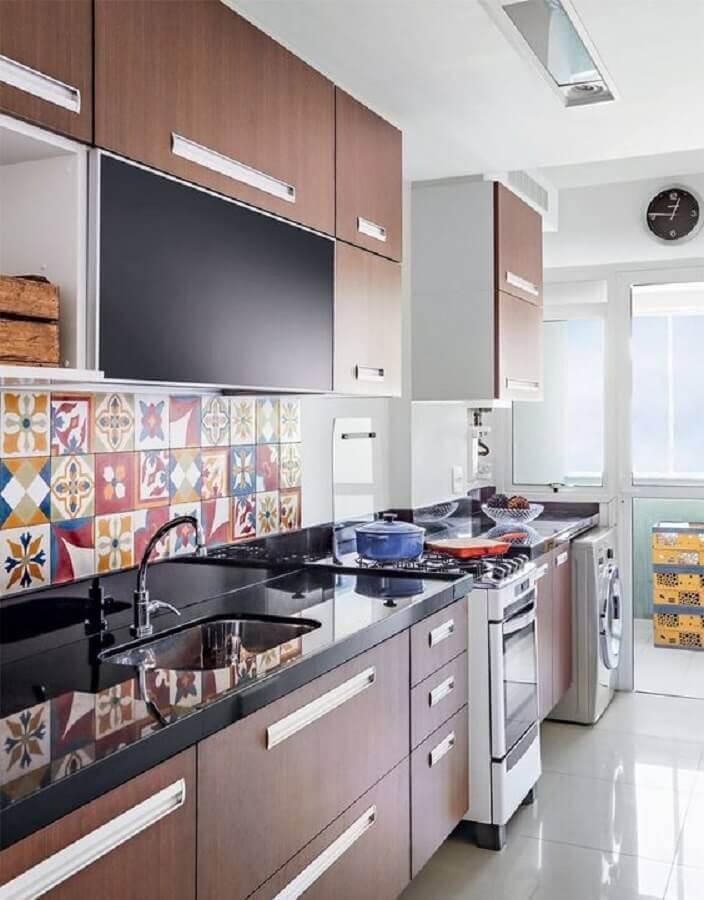 faixa decorativa para cozinha planejada Foto Simples Decoração