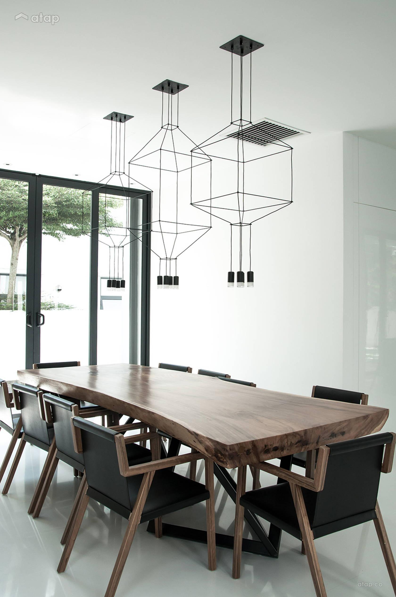 Sala de estar com lustres modernos