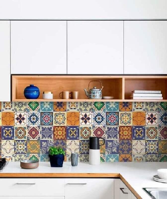 modelo clássico de faixa decorativa para cozinha Foto Pinterest