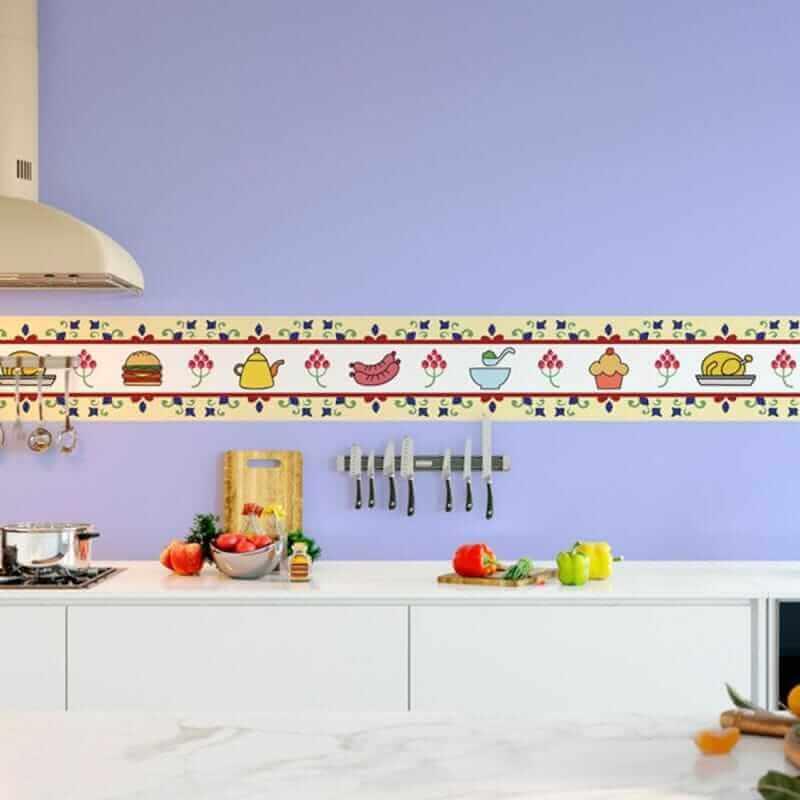 modelo de faixa adesiva para cozinha Foto MadeiraMadeira