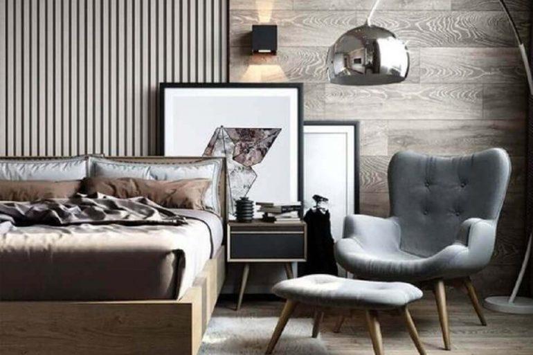 modelo de poltrona apra quarto de casal moderno decorado em tons neutros Foto Etsy