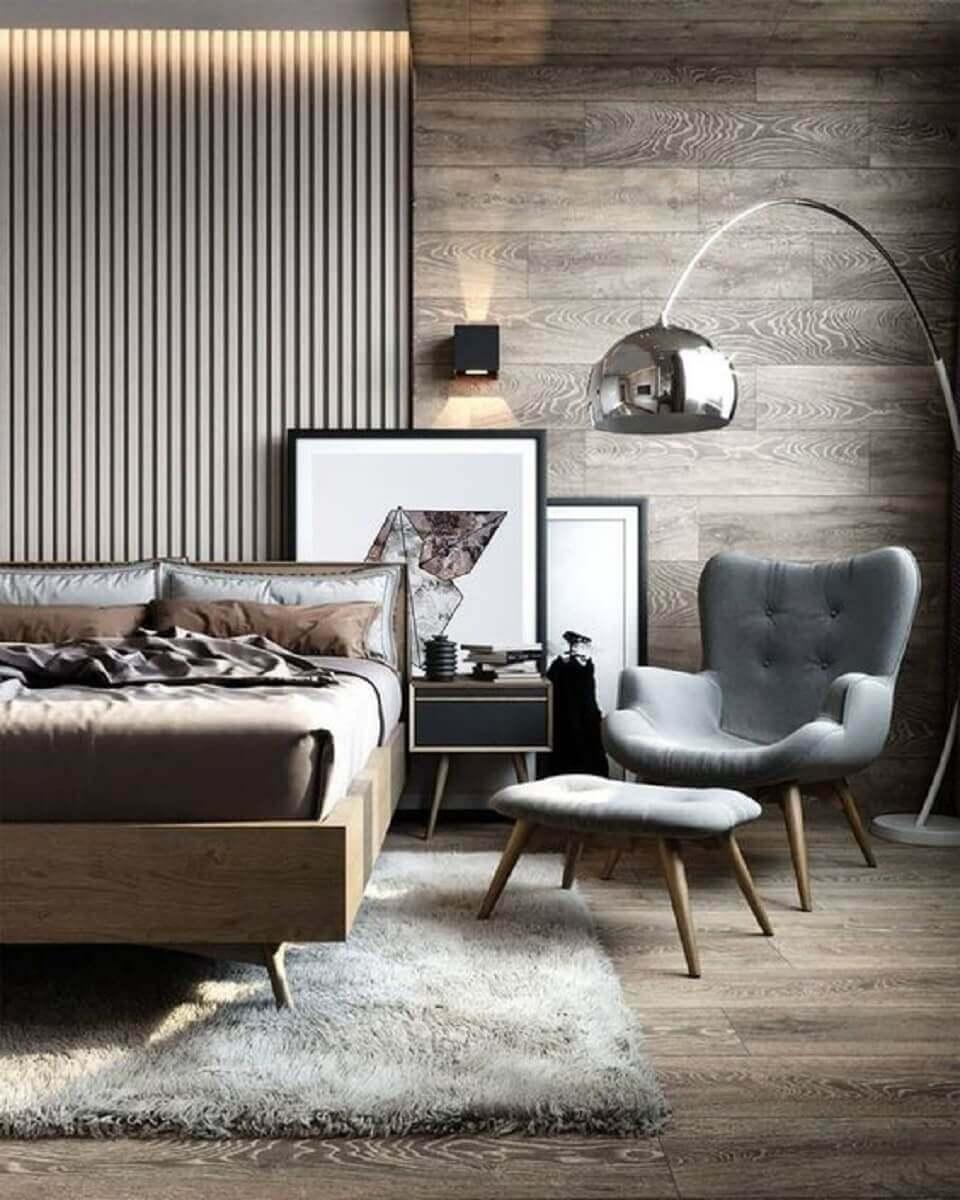 modelo de poltrona para quarto de casal moderno decorado em tons neutros Foto Etsy