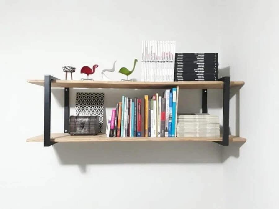 modelo de prateleira suspensa simples Foto 2 Lados Arquitetura & Design