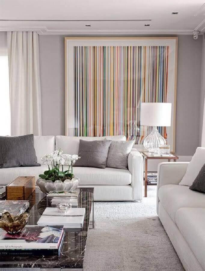 modelo grande de quadro de parede para sala de estar ampla e moderna Foto Pinterest