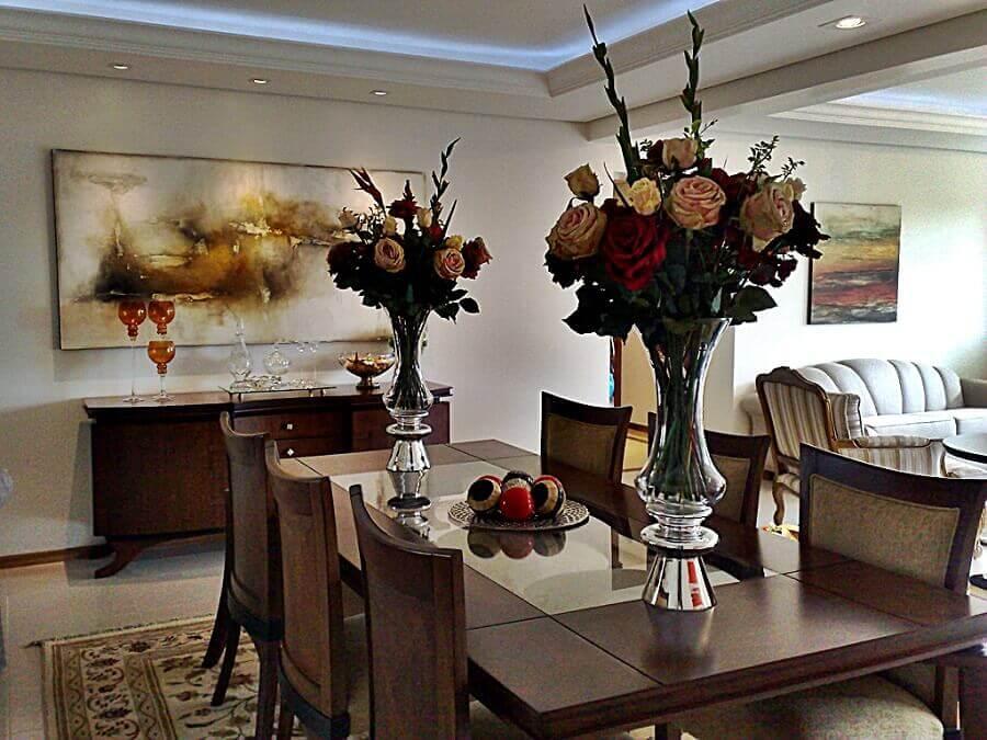 modelo de vaso grande para mesa de jantar com flores Foto Pinterest