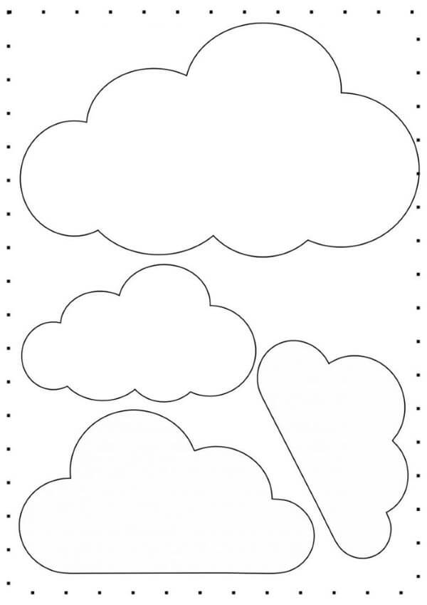 Molde de nuvem de feltro