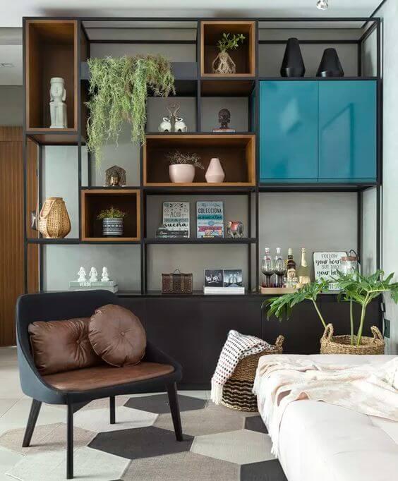 Móveis de madeira mdf para sala de estar confortável