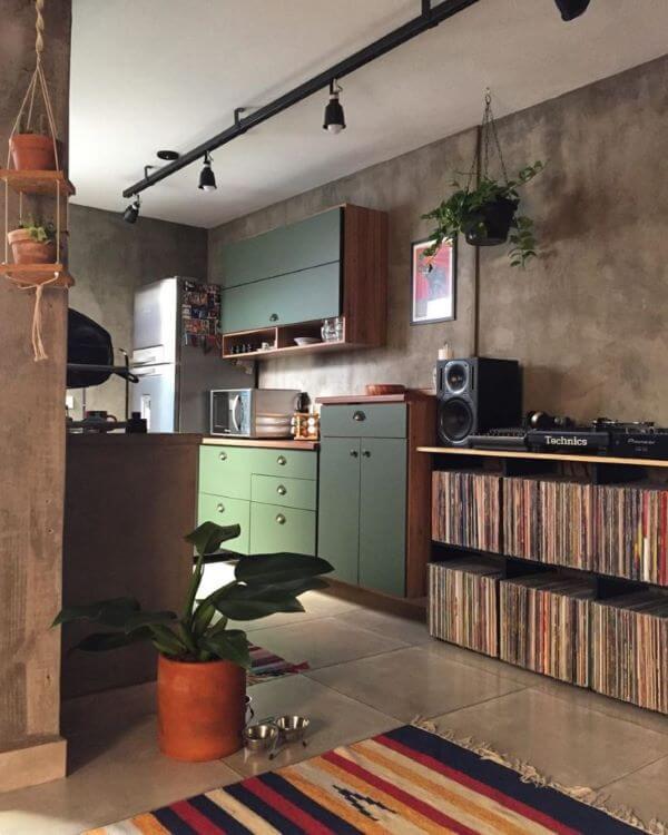 Cozinha decorada com pacová