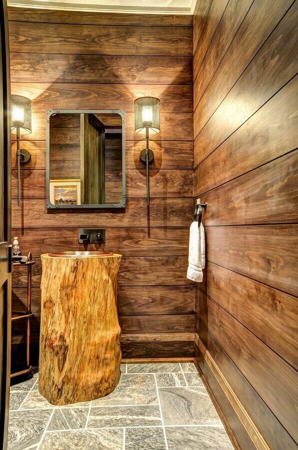 pia de banheiro rustica Foto Decor Ideas