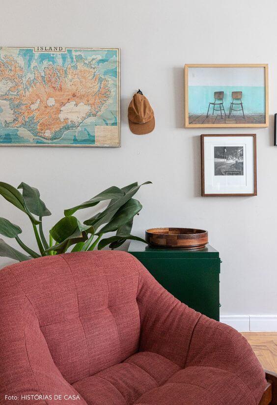 Planta pacová na sala moderna