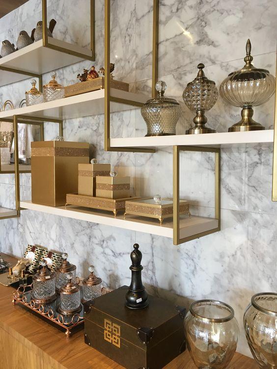 Use o porcelanato marmorizado como revestimento de parede também