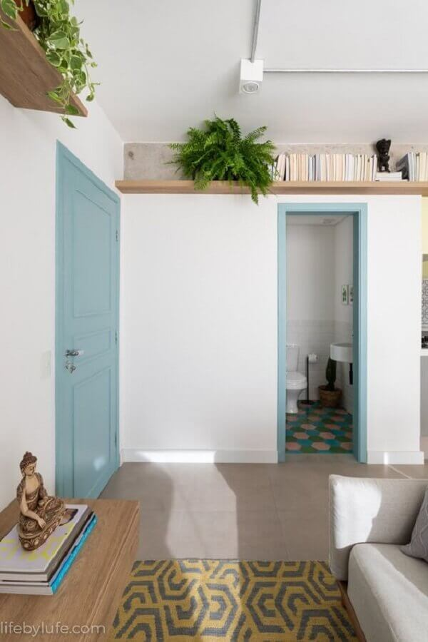 prateleira suspensa para sala de estar Foto Pinterest