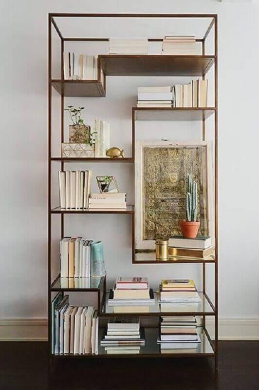 prateleiras espelhadas para estante estilo industrial Foto Pinterest