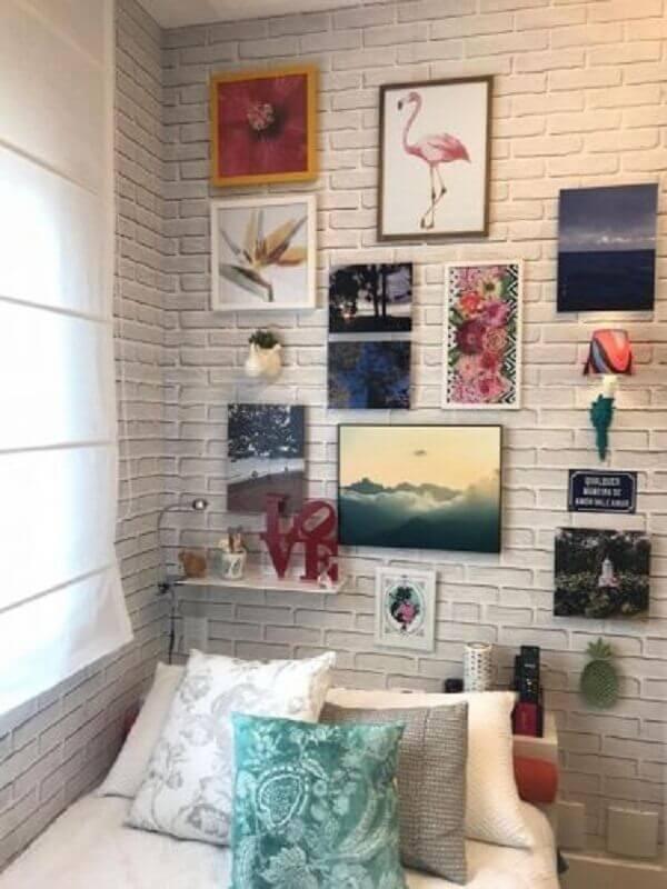 quadro de parede para quarto simples Foto Marília Caetano + Arquitetos