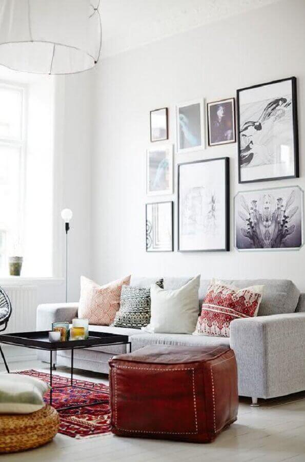 quadro para parede de sala de estar branca Foto Yandex