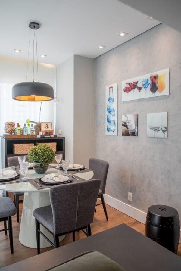 quadro para parede de sala de jantar cinza moderna Foto pinterest