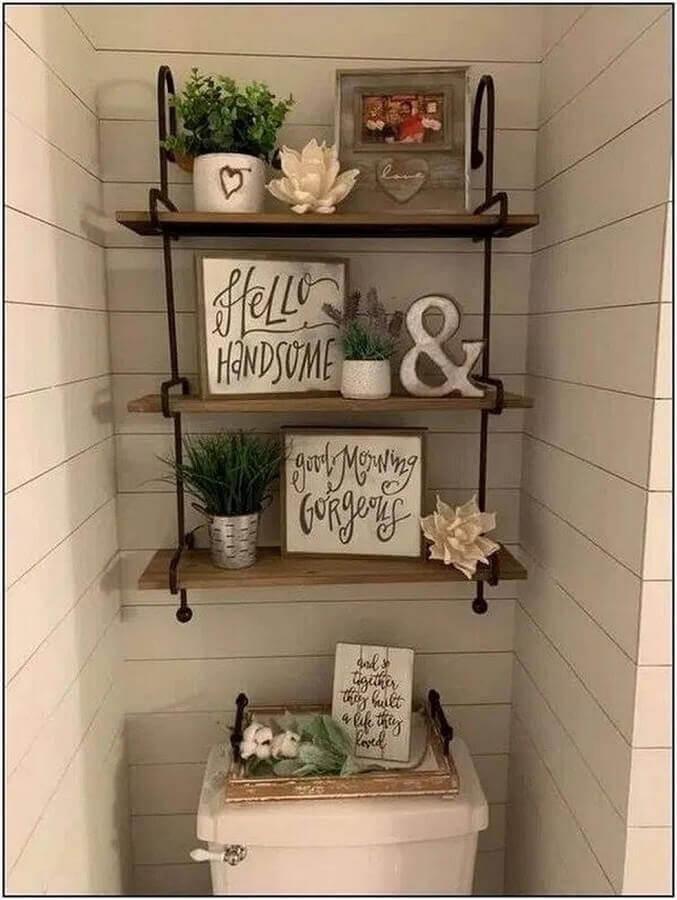 quadros com frases para banheiro simples Foto Pinterest