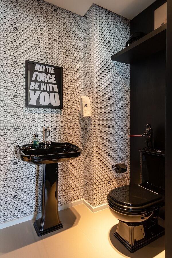 quadros com frases para decoração de banheiro preto e branco Foto Pinterest