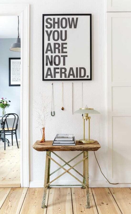 quadros com frases para decoração de corredor Foto We Heart It