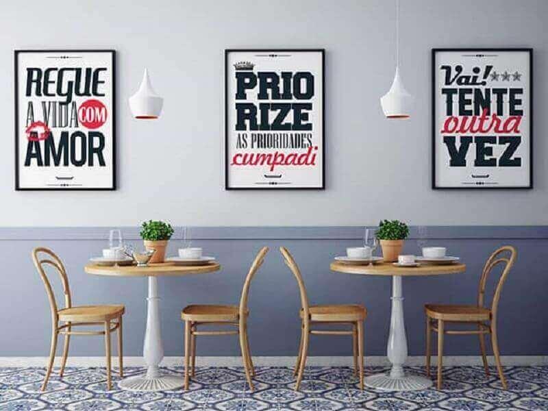 quadros com frases para decoração de lanchonete Foto Enquadrarte