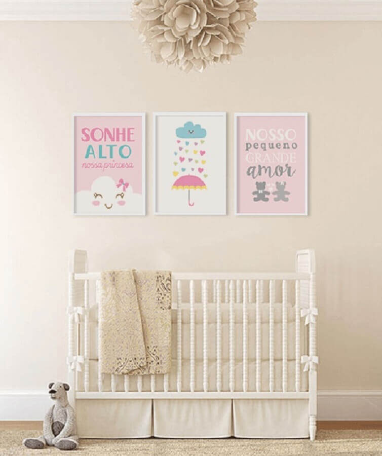 quadros com frases para quarto de bebê Foto Top Quadros