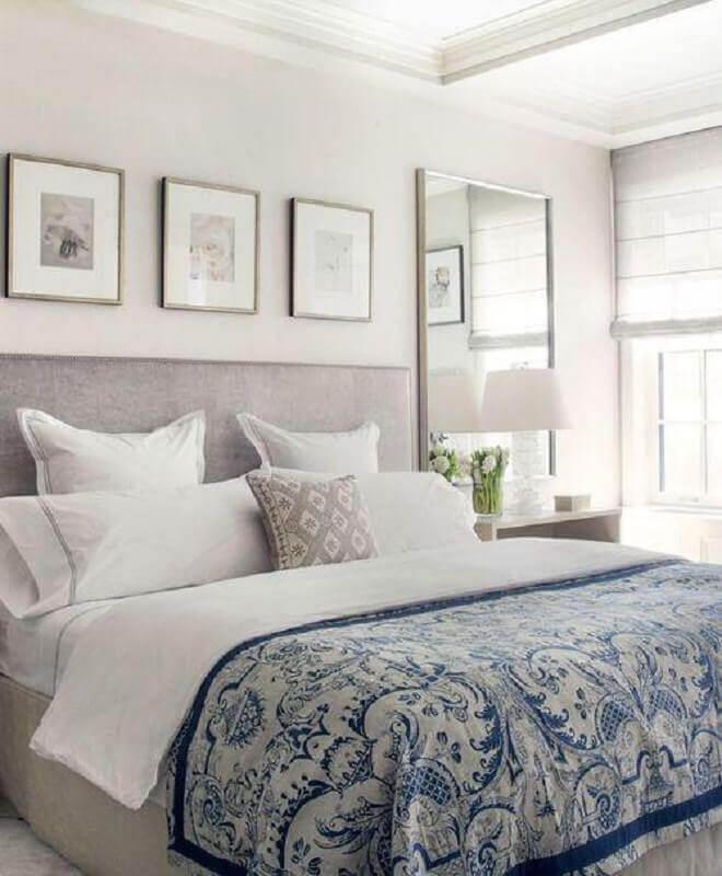 quadros de parede decorativos para quarto de casal cinza e branco Foto Pinterest