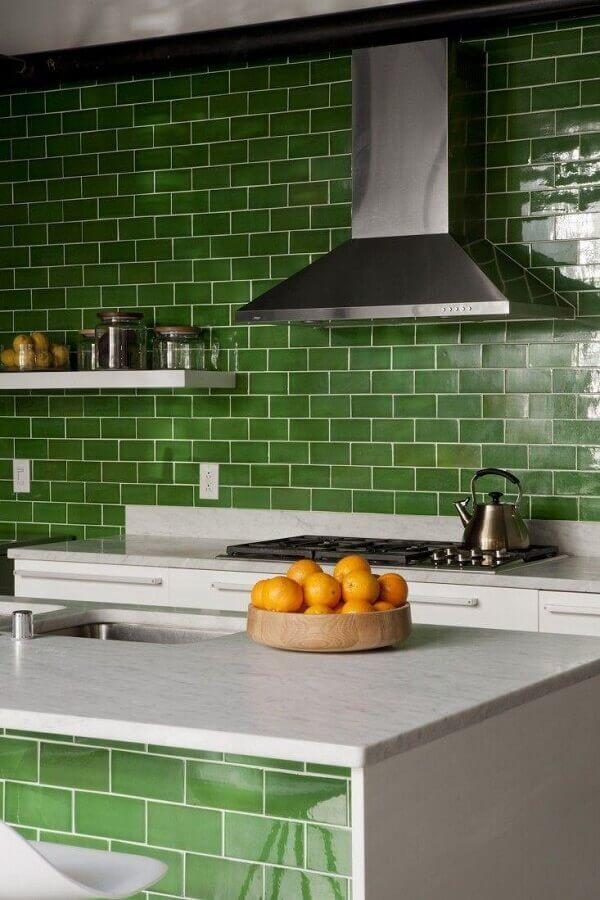 revestimento para cozinha verde Foto Archilovers