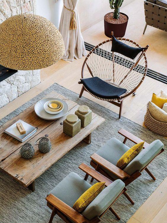 Cadeiras acapulcos são ótimas para decorar a casa