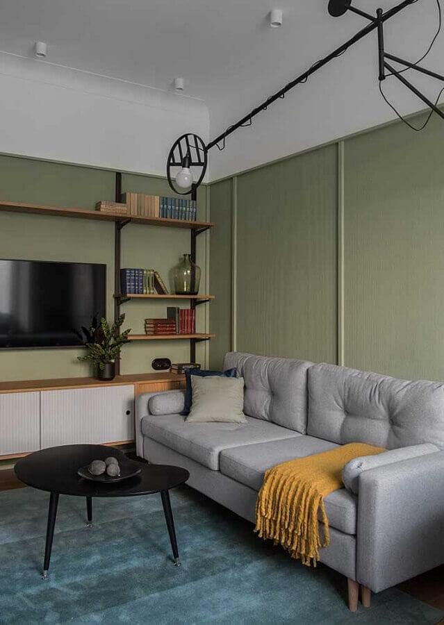 sala verde e cinza simples Foto Architecture Art Designs